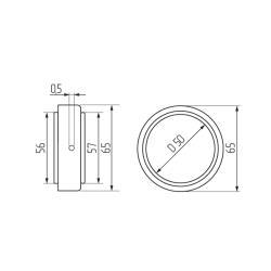 Кольцо-фиксатор для полок d 50мм, хром Чертеж
