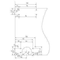 SKM 80 AY Ролики на дверь регулируемые  Mepa  Установочные размеры