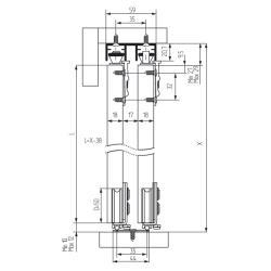 SKM 80 AY Ролики на дверь регулируемые  Mepa  Схема установки