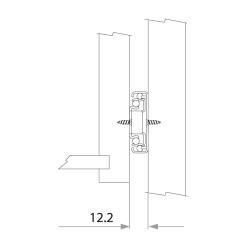 Шариковые направляющие полного выдвижения 450мм Н=35мм Установочные размеры