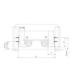 Направляющие для ящика Unihopper Magic Box, 400мм (комплект) Установочные размеры