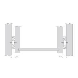 Шариковые направляющие полного выдвижения 500 мм Н=45 ЕСО Установочные размеры