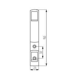 Крючок K2409 (ОН-155) 2-х рожковый,матовый хром Чертеж