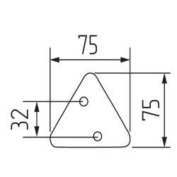 Ручка-кнопка H99, серый треугольник пластик Чертеж