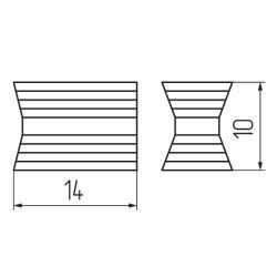 Стяжка  хоффман дуб молочный 2/14  (20) Схема установки