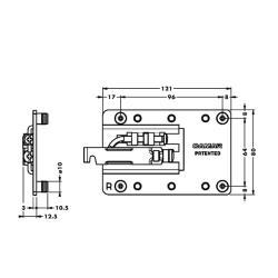 Подвеска каркаса усиленная 807.XL.Z1.IN.SX левая, CAMAR Присадочные размеры