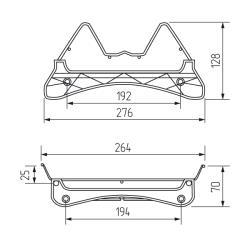 Посудосушитель Variant-3 800 мм 768х280х75(35)мм  (комплект) Установочные размеры