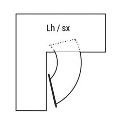 Механизм угловой TWISTER с деревянным дном, хром правый Compagnucci  Чертеж