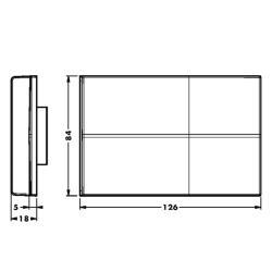 Крышка 807.XL.60.RV.00 для подвески каркаса 807 XL RV, серая (пласт), CAMAR Чертеж