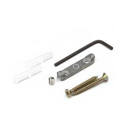 Крючок R17 со скрытым креплением, 2-х рожковый, хром матовый Комплектующие