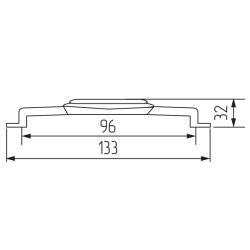Ручка-скоба R06, 96мм, графит Чертеж