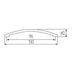 Ручка-скоба R10, 96мм, хром Чертеж