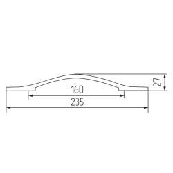 Ручка-скоба 404-160 , хром Чертеж