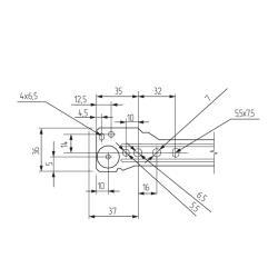 Роликовые направляющие RAL8017 600mm коричневые Присадочные размеры