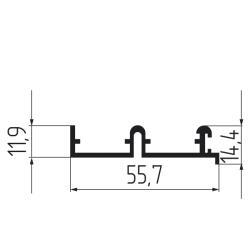 Направляющая верхняя двухполозная для SGM 04-2  1,5м Чертеж