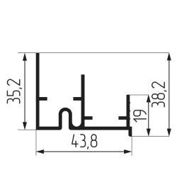 Направляющая нижняя двухполозная для SFT 200, SGM 04-2 3м Чертеж