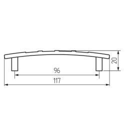 Ручка-скоба L437-96 хром Чертеж