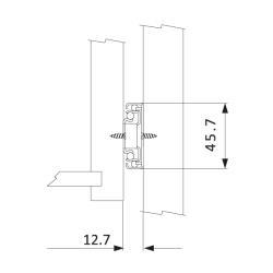 Шариковые направляющие полного выдвижения FGV 350 мм H=45мм с доводчиком (C735XC0) Установочные размеры