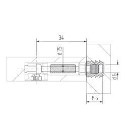 Шток эксцентрика 05 294(метрическая резьба) без футорки Схема установки
