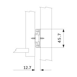 Шариковые направляющие полного выдвижения FGV 550 мм H=45мм с доводчиком Установочные размеры