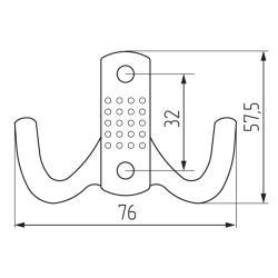 Крючок H5534E AL 2-х рожковый, хром Чертеж