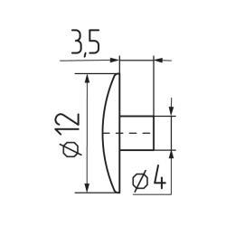 Заглушка №23 под шестигранник Чертеж