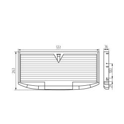 Полка  для клавиатуры К-2, 551х263х36 мм Комплект Чертеж