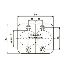 MKM002 Петля для раскладных столов Чертеж