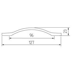 Ручка-скоба H76-96, хром Чертеж