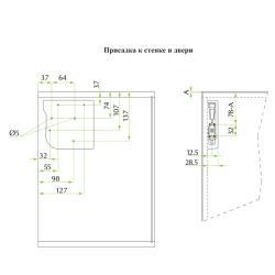 Подъемный механизм FGV AEROBUS  D40 (2,4-5,5 кг) Присадочные размеры