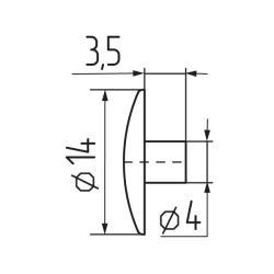 Заглушка №31 под  шестигранник  - ясень шимо  Чертеж