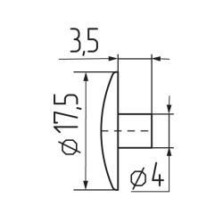 Заглушка эксцентрика №23 Чертеж