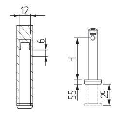 Регулятор опорный врезной Н.70 для 16ДСП Италия Схема установки