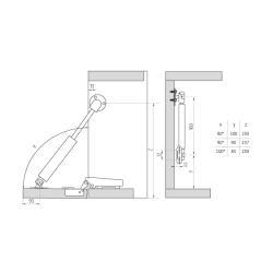 Газлифт  на 10кг секретерный Схема установки