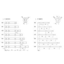 Шариковые направляющие полного выдвижения FGV 500 мм H=45мм  Присадочные размеры