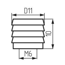 Втулка для угловой стяжки металлическая Чертеж