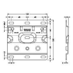Площадка 897.AS.Z1.12.12 для подвески каркаса со встр. ящиком 807 RV, CAMAR Чертеж