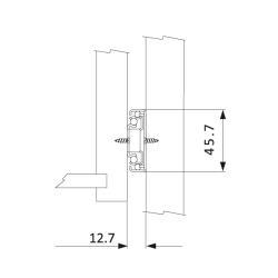Шариковые направляющие полного выдвижения FGV 300 мм H=45мм с доводчиком (C730XC0) Установочные размеры