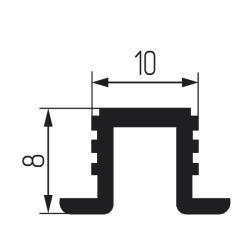 PVC 02-3м Направляющая верхняя для MF30,60; SKM 30,60 серая Чертеж