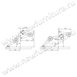 Механизм подъемный/откидной FGV AEROWING Схема установки