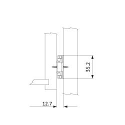 Шариковые направляющие полного выдвижения 450 мм Н=35 мм ECO Установочные размеры