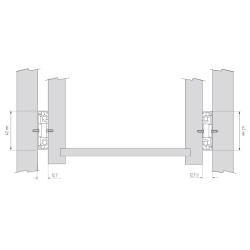 Шариковые направляющие полного выдвижения 400 мм Н=45 1,0x1,0x1,0мм Установочные размеры