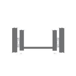 Шариковые направляющие полного выдвижения 450 мм Н=45 1,0x1,0x1,0мм Установочные размеры