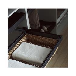 Выдвижная корзина из ПВХ ротанга Unihopper в базу 900мм c доводчиком clip-on Moka В мебели