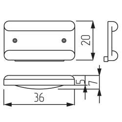 Подпятник черный Тип  -2 Чертеж
