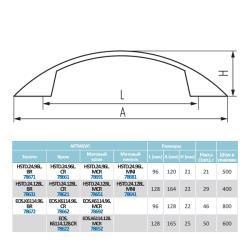 Ручка-скоба K6114, 128мм  хром Чертеж