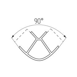 Соединение цоколя 90°(универсальное) 100мм, пластик, вишня Чертеж