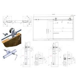 VENUS-01 раздвижная система для межкомнатной двери (1,67 м) MEPA Схема установки