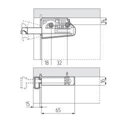 Подвеска регулируемая 806.14.P2.VI.SX на саморезах (50кг), левая L, CAMAR Схема установки