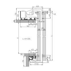 Доводчик с двумя демпферами SFT 200.2 Схема установки